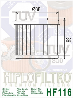 filtre a huile HF116
