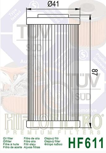 filtrea huile sherco