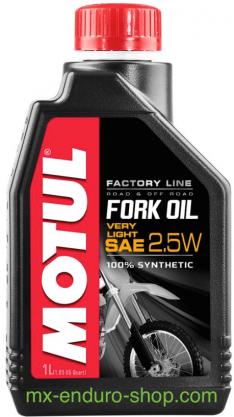 huile pour fourche 2,5w 5w 7,5w 10w
